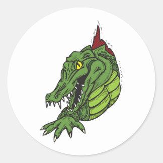 Fighting Gator Classic Round Sticker