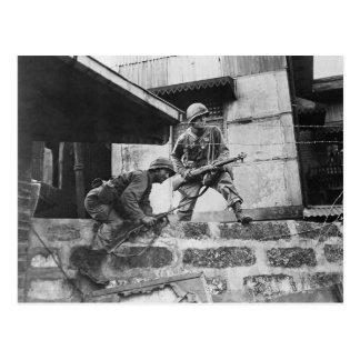 Fighting in Manila Postcard