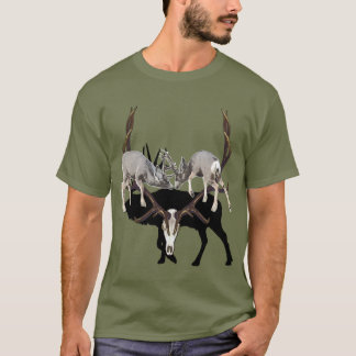 Fighting Mule Deer customize T-Shirt
