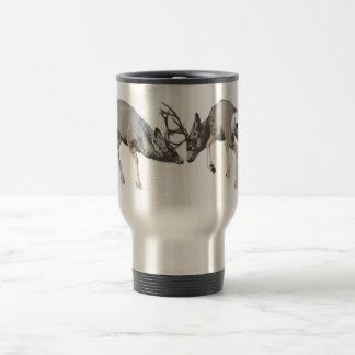 Fighting Mule Deer customize Travel Mug