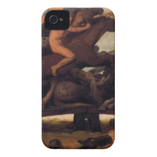 Fighting on a bridge by Arnold Böcklin iPhone 4 Case