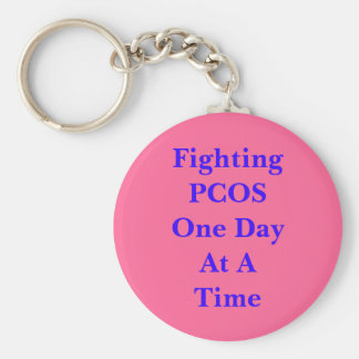 Fighting PCOS One Day At A Time Key Ring