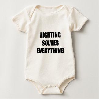 Fighting Solves Everything Baby Bodysuit