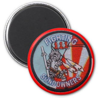 FIGHTING SUNDOWNERS VF-111 6 CM ROUND MAGNET