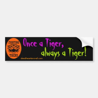 Fighting Tigers bumper sticker - Dead Hearts Novel