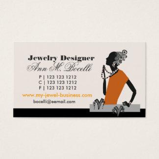 Figurative  Beads Jewelry Designer Artist Fashion Business Card