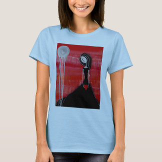 Figurative Woman Holding Heart T-Shirt