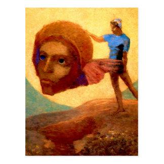 Figure by French Symbolist Odilon Redon Postcard