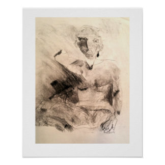 Figure in charcoal poster