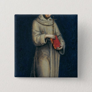 Figure of a Franciscan Monk 15 Cm Square Badge