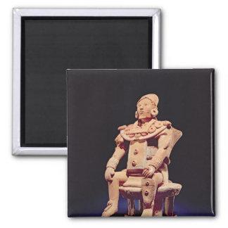 Figure of a warrior in full regalia square magnet