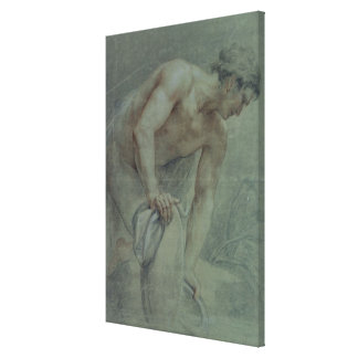 Figure of a Warrior, partly draped, 18th century Canvas Print