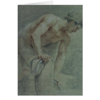 Figure of a Warrior, partly draped, 18th century Card