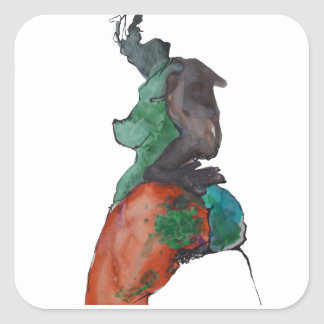 Figure Of A Woman Square Sticker