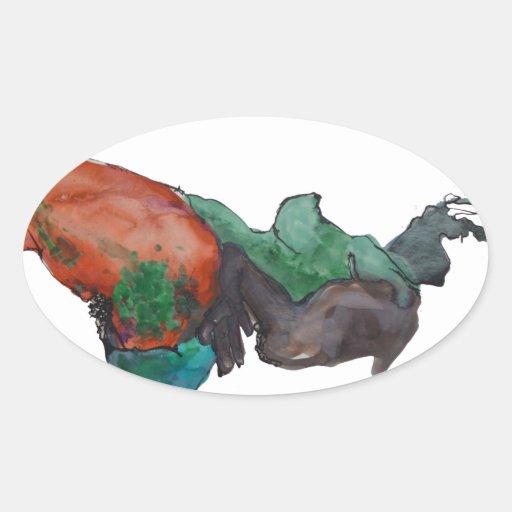 Figure Of A Woman Sticker