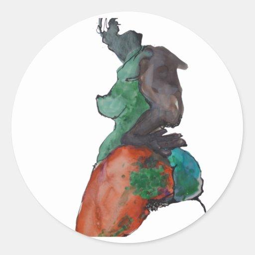 Figure Of A Woman Round Sticker