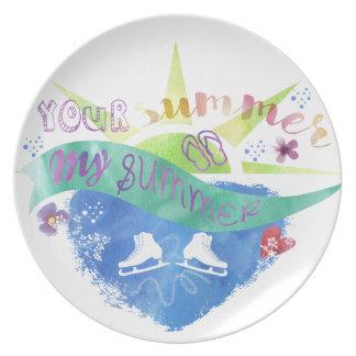 Figure Skate Design Dinner Plates