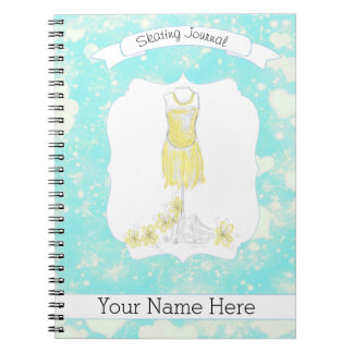 Figure Skate Notebook Journal