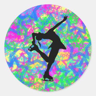 Figure Skater - Colorful Stars Sticker