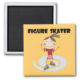 Figure Skater Girl Tshirts and Gifts Square Magnet