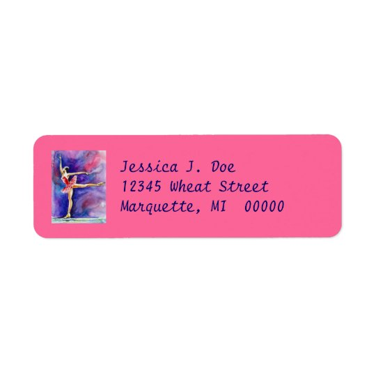 Figure Skater Grace athlete Return Address Labels