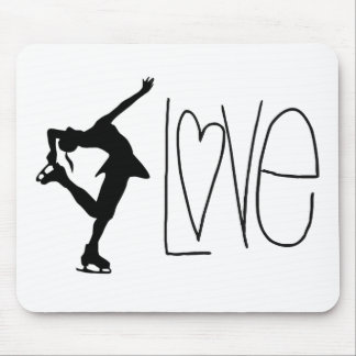 Figure Skater Love Mouse Pad