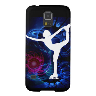 Figure Skater on Technicolor Ice Galaxy S5 Case