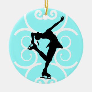 Figure Skater Ornament - Ice Blue - personalize it