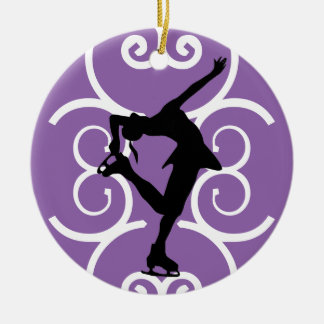Figure Skater Ornament - Purple - personalise it