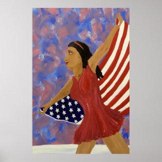 Figure Skater USA Poster