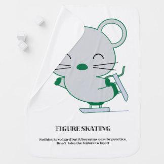 Figure skating baby blanket