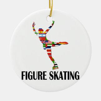 Figure Skating Ceramic Ornament