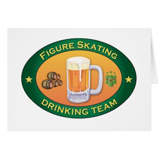 Figure Skating Drinking Team Card