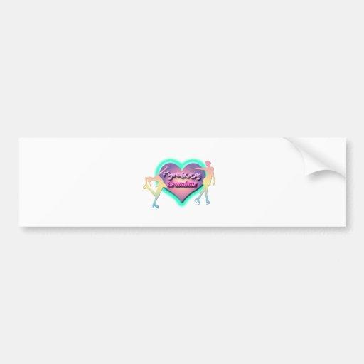 figure skating grandma pastels bumper stickers