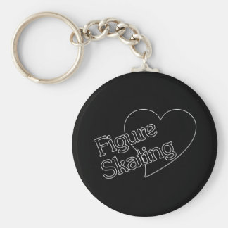Figure Skating Heart/Love Key Ring