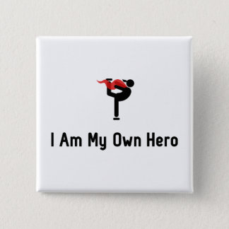 Figure Skating Hero 15 Cm Square Badge