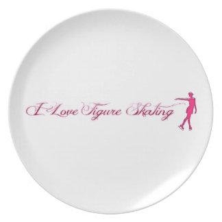 Figure Skating (I Love) Pink/Purple Skater Plate
