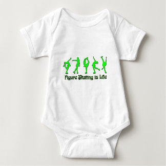Figure Skating is Life - Lime Baby Bodysuit