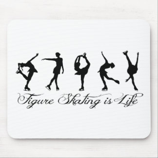 Figure Skating is Life - Script & Skaters Mouse Pad
