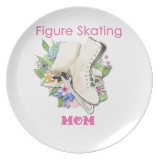 Figure Skating Mom Gift Best Pink Dinner Plates