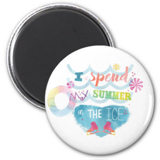Figure Skating Summer Gifts 6 Cm Round Magnet