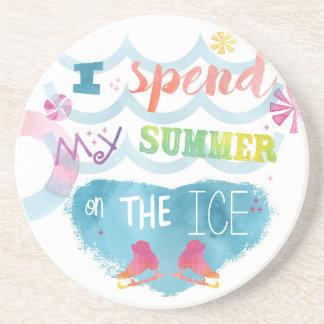 Figure Skating Summer Gifts Beverage Coasters