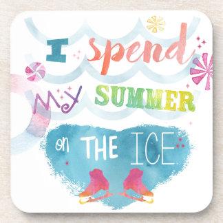 Figure Skating Summer Gifts Drink Coaster