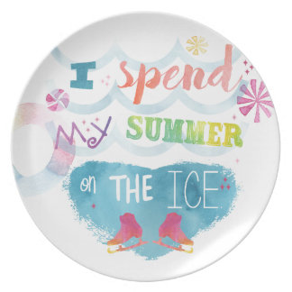 Figure Skating Summer Gifts Party Plate