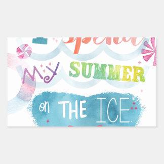 Figure Skating Summer Gifts Rectangular Sticker