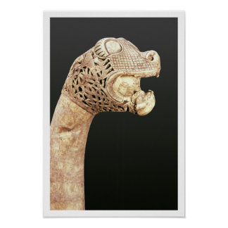 Figurehead of a Viking Longship, found at Oseberg, Poster