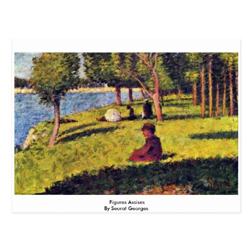 Figures Assises By Seurat Georges Post Card