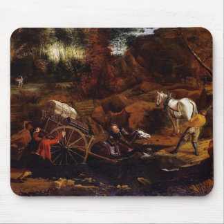 Figures With A Cart And Horses by Jan Siberechts Mousepads