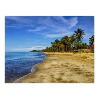 Fiji Beach Sand and Sky Poster