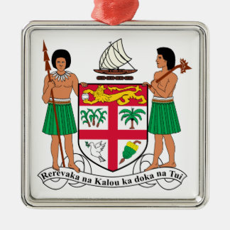 Fiji Coat of Arms Metal Ornament